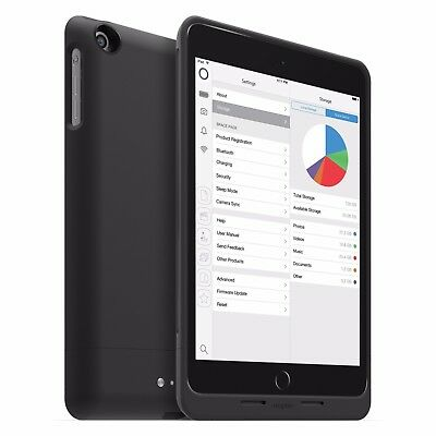 Mophie Space Pack For Ipad Mini - Battery + Storage - 128Gb - Black