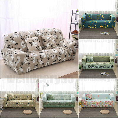 1 2 3 Seater Sofa Cover Seat Slipcover Stretch Elastic Couch Furniture  Protector