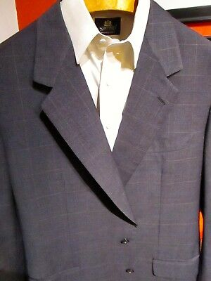 Brioni Gray Plaid Sport Coat Jacket, Men's Size 46L, Full Canvas, Made in Italy