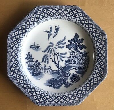 Royal Staffordshire J&G Meakin ironstone Willow Pattern Plate 7""