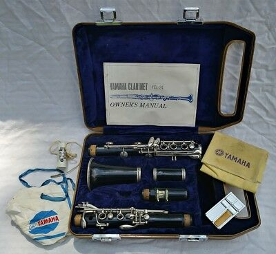 Yamaha Vintage Clarinet YCL-24 w/ Hardshell Case & Y-12 Mouthpiece Serial 009325
