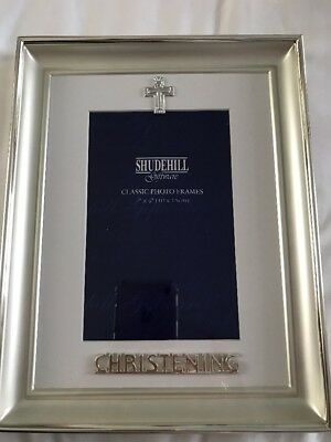Baby Christening Photo Frame Silver  BNWT