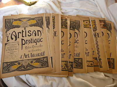 11 N°  Paris France Magazine L'artisan Pratique 1911 To 1923
