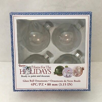 Darice Heavy Glass Ornament Balls with Gold Filigree 70 mm Clear