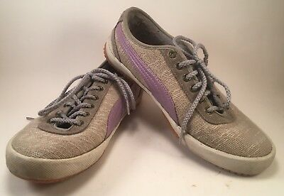 427f63f3 WOMENS PUMA PURPLE Gray Running Shoes Size 9,5 Med Med Excellent ...