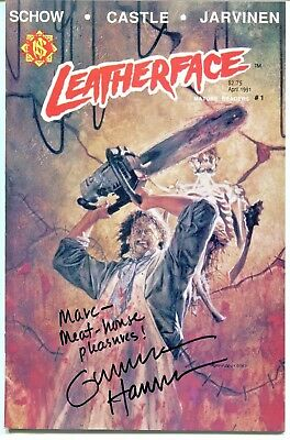 """LEATHERFACE Comic #1 Signed GUNNAR HANSEN """"Meat House Pleasures"""" In Person"""