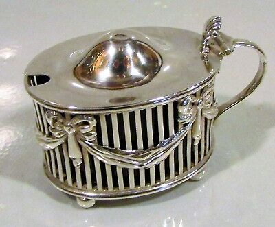 S/Silver Mustard Pot William Hutton & Sons London 1895 Blue Liner!