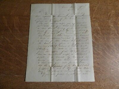 1837 General Land Office Letter SIGNED BY JAMES WHITCOMB