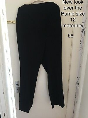 maternity clothes size 12 New Look Over Bump Smart Trousers