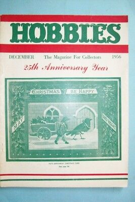 """1956 Hobbies Magazine """"The Magazine For Collectors""""-Kate Greenaway Card on Cover"""