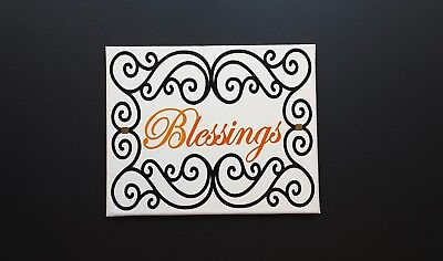 8 x 10 INSPIRATIONAL QUOTES WALL DECOR - BLESSINGS - CANVAS FRAME - VINYL