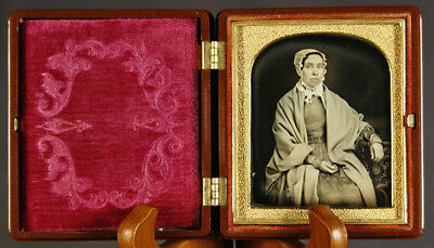 Museum Quality Sixth Plate Daguerreotype New Glass & Seals Skovill Union Case