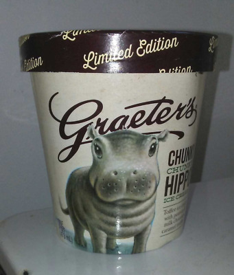 Fiona The Hippo Cincinnati Zoo Graeter's Chunky Hippo Ice Cream Pint Container
