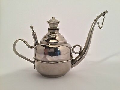 Antique S. Sternau & Co. Nickel Plated Oil Lamp Filler - No Reserve