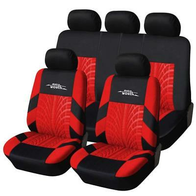 AUTOYOUTH Full Set Seat Covers for Cars Universal Fit Car Protectors Tire...