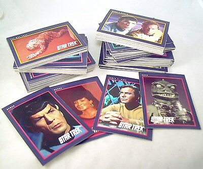 181 Star Trek Trading Card Lot Impel 1991 Incl Checklists & Tv Cards #4 And #6
