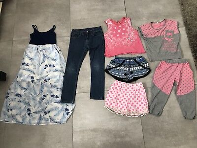 Girl's Tops And Shorts Dress Mixed Bundle Size 7 /8