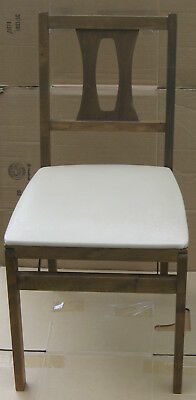 """Vintage Stakmore All Wood Folding Chair Made In Owego, Tioga County, NY 32"""" Tall"""