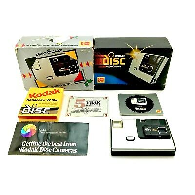Kodak Disc 4000 Camera Outfit Boxed Complete With Sealed Disc Film 1980s vintage