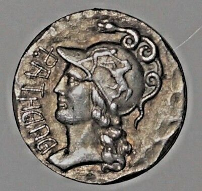 Modern STERLING Helmeted head of Athena  P.ATHENA  (125)