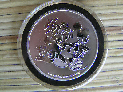 Disney Mickey Mouse Year of the Dog 1 oz. 999 Silver Coin 2 dollar Niue 2018 in