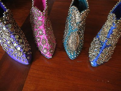 DECORATIVE OR CARD HOLDERS SHOES, NEIMAN MARCUS by PURVA DESIGN, SET OF 4