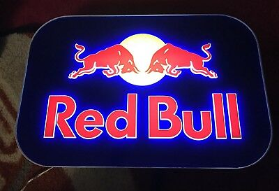 """RED BULL LED ELECTRIC LIGHT UP LIGHTBOX SIGN 12"""" X 8"""" W/ AC Adapter"""