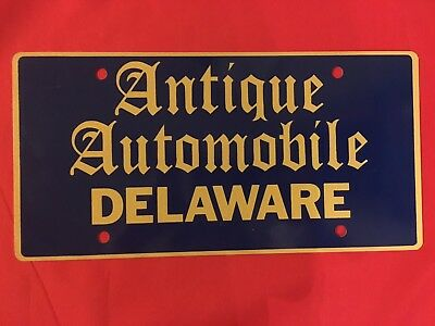 Delaware Antique Automobile License Plate