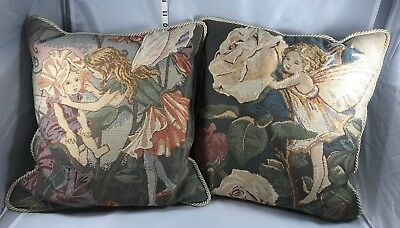 Cicely Mary Barker (2) Two Flower Fairy Pillows - Sweet Pea & Rose