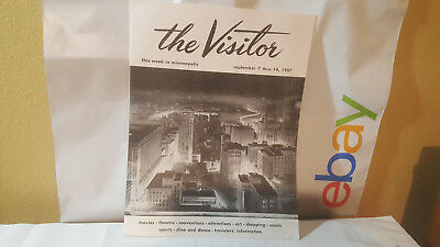 the Visitor this week in minneapolis september 7 -14 1957 VTG Travel Brochure
