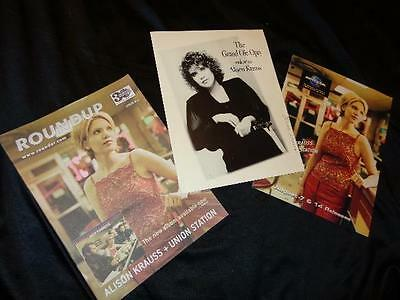 Alison Krauss *1993 Grand Ole Opry Induction Fold-Open Brochure+Magazine Cover!
