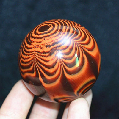 Genuine Golden Black Coral Sea Willow cure the handball Ball 50MM #AA