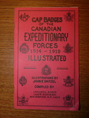 Cap Badges of the Canadian Expeditionary Forces 1914-1919 Paperbound