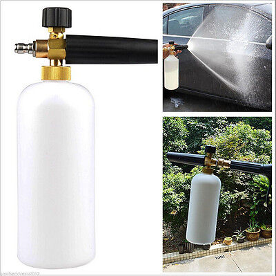 1L Adjustable Autos Exterior Snow Foam Lance Cannon High Pressure Washer Gun Jet