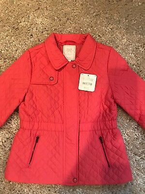 Gymboree girls Kitty in pink quilted anorak jacket NWT size 5/6