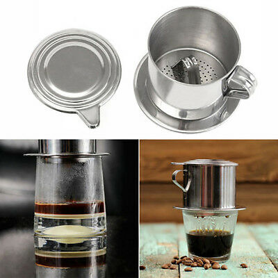 Stainless Steel Vietnam Vietnamese Coffee Simple Drip Filter Maker Infuser