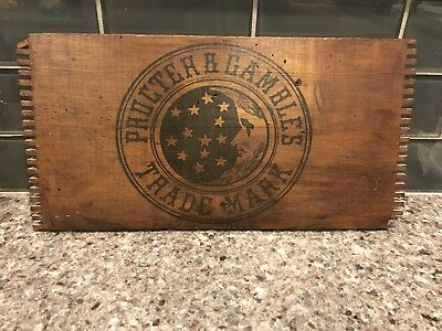 Vintage Proctor & Gambles Wood Sign from Old Wooden Crate Advertising P&G
