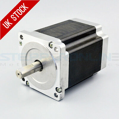 Nema 34 Stepper Motor 8.5Nm 5A 4-wire 14mm Dual Shaft CNC Mill Lathe Router