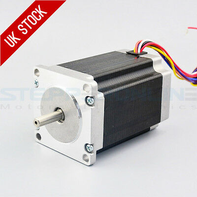 Nema 23 Stepper Motor 2.83Nm 4A 6.35mm Dual Shaft 8-wire CNC Mill Lathe Router