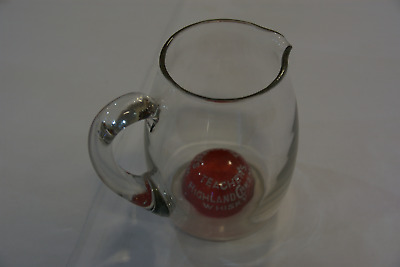 TEACHER'S WHISKY WATER JUG  GLASS with CRANBERRY INSERT