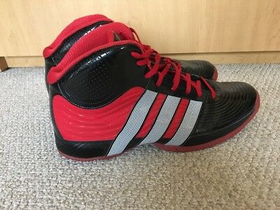 cheap for discount 6ea11 cf3b0 Adidas Mens Black Red Commander Basketball Shoes Size 12 EUC