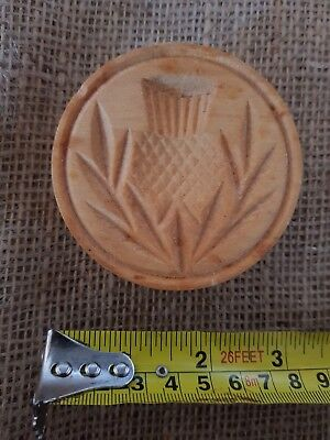 Vintage Scotch / Scottish Thistle Butter Stamp
