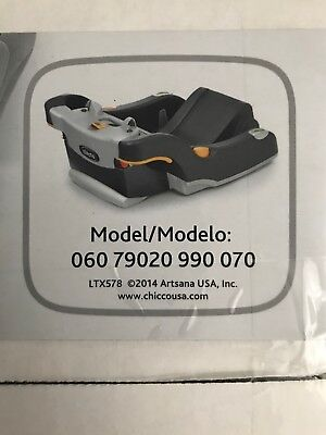 CHICCO KEYFIT 30 Infant Car Seat Base Expires 12 2023