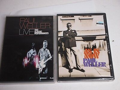 Lot of 2 PAUL WELLER DVDs - AS IS NOW + LIVE Two Classic Performances