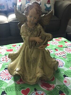 Vintage Angel Christmas Figurine Made in ITALY hard plastic