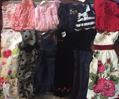 Lot Of 13 Pieces Girls Size 2T/24m Dresses