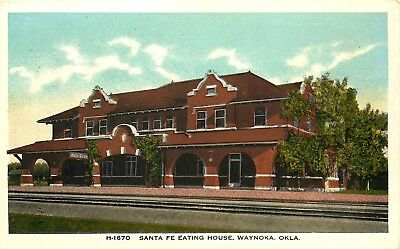 Santa Fe Eating House, Waynoka, Oklahoma, Vintage Fred Harvey Postcard