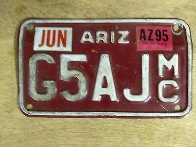 Craft / Decor / Collection 1995 Arizona motorcycle license plate