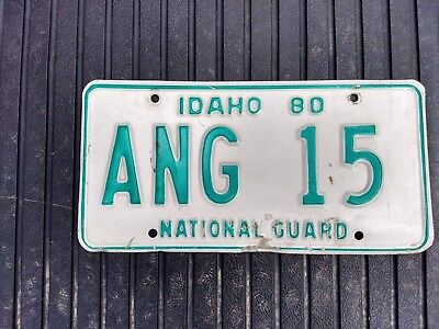 Craft / Decor /Collection 1980 Idaho Air National Guard license plate