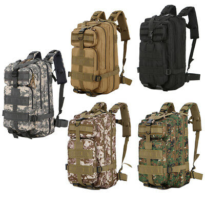 30L Neutral Army Tactical Backpack Outdoor Hiking Camping Rucksack Waterproof